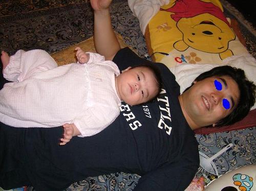 生後3ヶ月 父と子